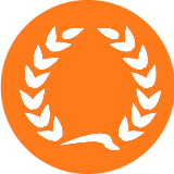 Accreditation icon (orange)