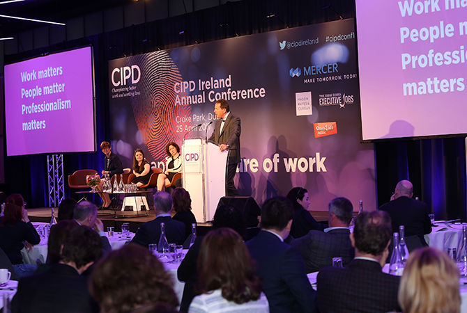Peter Cheese speaking at CIPD Annual Conference in Ireland 2017