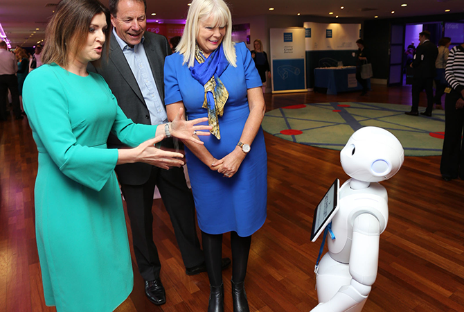 Robot on display at CIPD Annual Conference in Ireland 2017