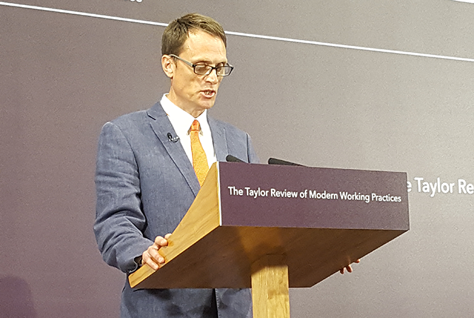 Matthew Taylor speaking at Taylor review launch event