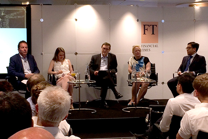 Panel of speakers at Financial Times event