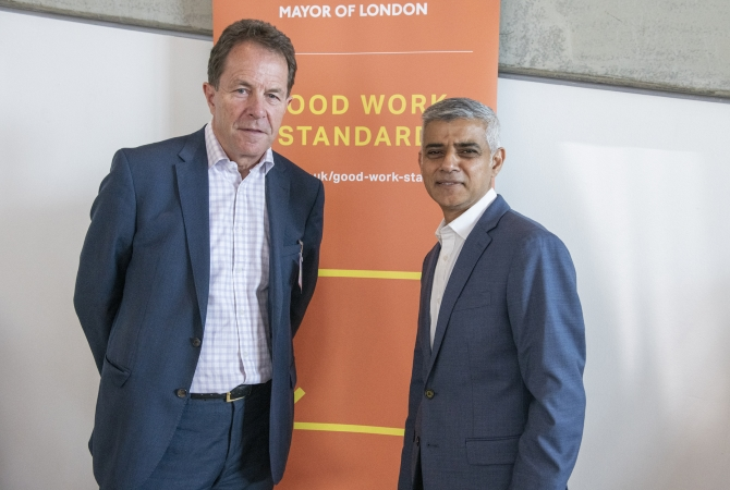 Peter Cheese and Sadiq Khan, Mayor of London