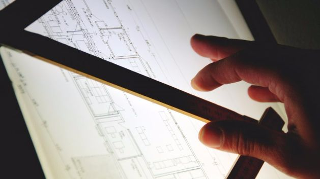 Technical drawing closeup